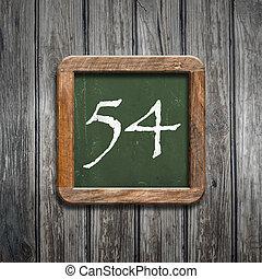 digit on a green blackboard