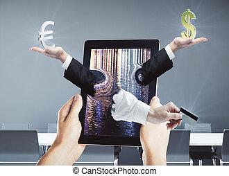digitaal bankwezen, concept