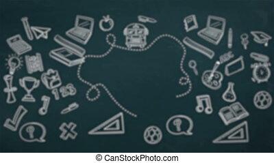 digitaal gegenereerde, video, van, opleiding