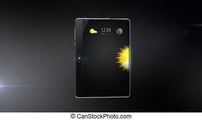 digitaal tablet, met, internet, connec