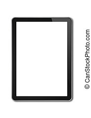 digitaal tablet, pc, smartphone, mal, vrijstaand, op wit