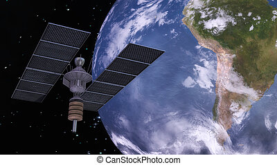 Satellite - Digital 3D Illustration of a Satellite