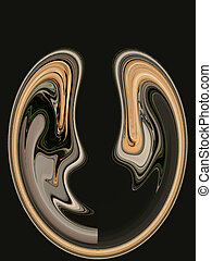 Digital Abstract Art - Abstract Heart