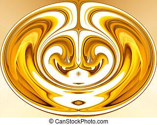 Digital Abstract Art - Yellow Brain