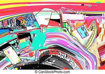 digital abstract painting, original artwork