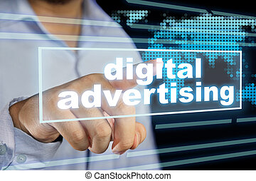 Digital Advertising, Motivational Business Marketing Words Quotes Concept