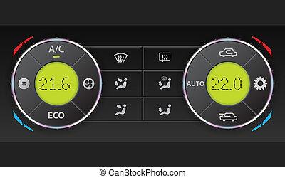 Digital air condition dashboard