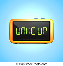 Digital alarm clock wake up - Realistic digital alarm clock...