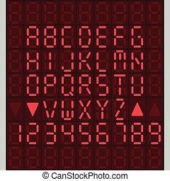 Digital Alphabet set