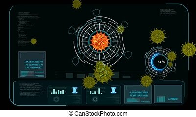 digital analysis to find vaccine and medicine from covid virus mutation dark red color