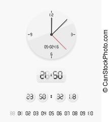 Digital and analog clock