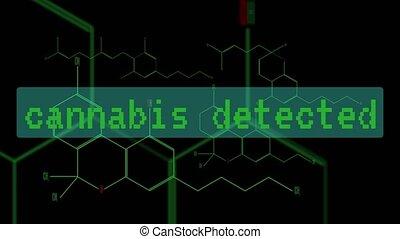 Digital animation - a group of cannabinoid molecules