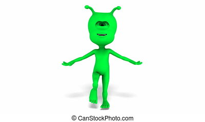 Digital Animation of a dancing Alien