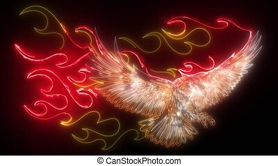 Fire Eagle digital video animation