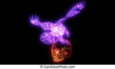 Eagle and Skull video animation