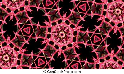 Digital Animation of a kaleidoscopic Mandala