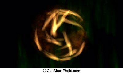 Digital Animation of a mystic Scene