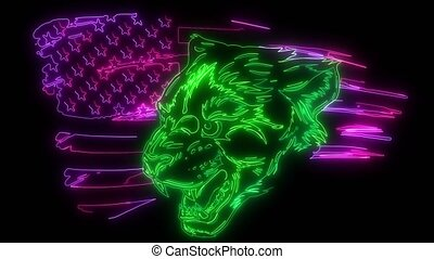 Cougar Panther Mascot Head Graphic art