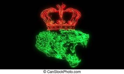 Design Artwork Snake and Crown