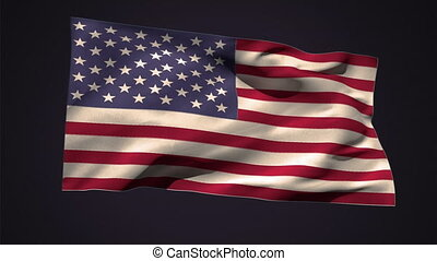 American national flag waving