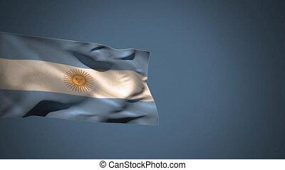 Argentina national flag waving