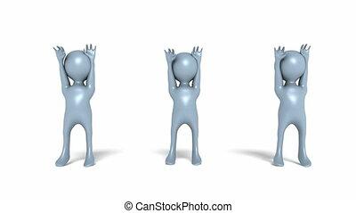 Digital Animation of cheerleading Manikins