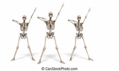 Digital Animation of cheerleading Skeletons