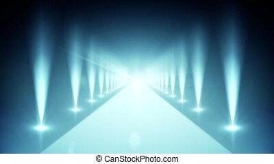 Digital blue walkway