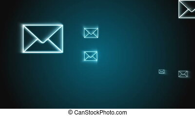 Digital animation of e-mail envelop