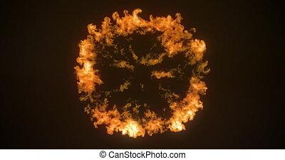 Digital animation of fire burst exploding 4k - Digital ...