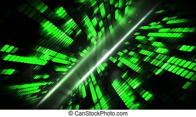 Green mosaic nightlife design