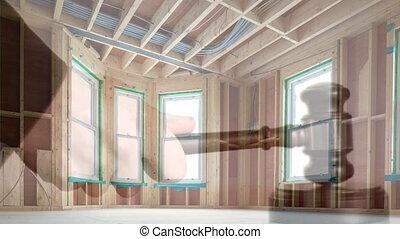 Digital animation of house on sale 4k