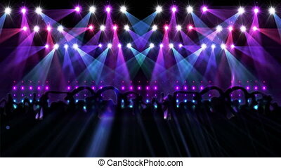 Nightclub with light show - Digital animation of Nightclub...