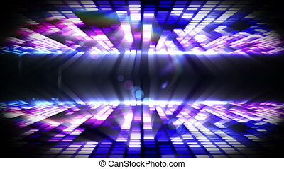 Purple mosaic nightlife design - Digital animation of Purple...
