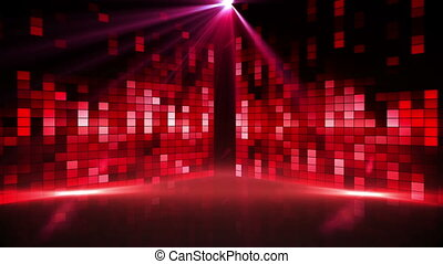 Red music pixel design with lights