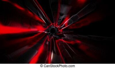 Red vortex design on black - Digital animation of Red vortex...