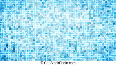 digital animation of swimming pool bottom caustics ripple...