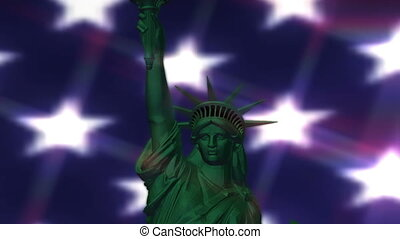 Digital Animation of the Statue of Liberty