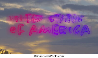 United States of America text