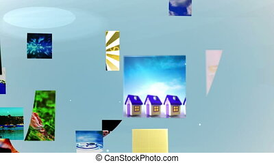 Video clips forming 2015 message - Digital animation of...