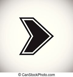 Digital Arrow on white background
