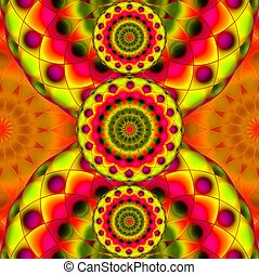 Psychedelic Visions - Digital art abstract background ...