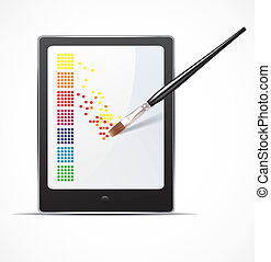 Digital art concept - Editable vector design