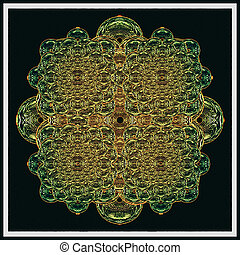 Croos Relic - Digital artwork Croos Relic in green and ...