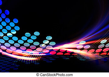 Digital Audio Equalizer - A glowing graphic digital audio ...