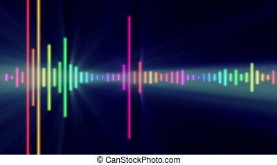 Digital audio equalizer color bar, abstract light motion