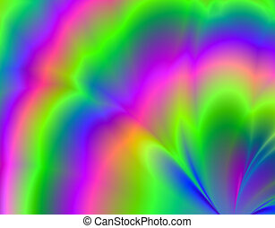Digital Aurora - Digital  background - fractal
