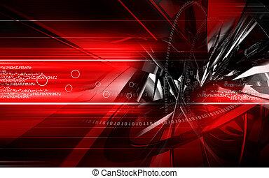 Digital illustration of colour in digital background