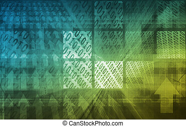 Digital Background Internet Concept as a Art