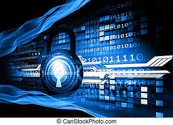 Digital background of Internet Security